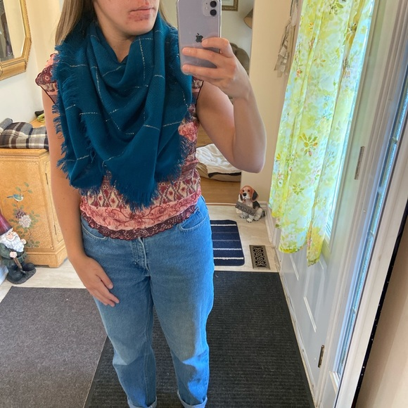 Turquoise Blue Scarf